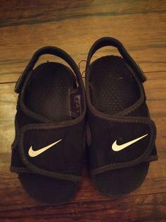 aca075855c4af Nike Sunray Adjust Black White Sandals Childrens Size 7  fashion  clothing   shoes