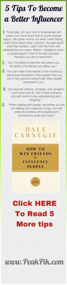 Daily Tips And Motivation | Dale Carnegie How To Win Friends And Influence People. These principles still work today. We make a great team... I really enjoy your perspective... I can learn a lot from you and I think you could learn something from me as well!