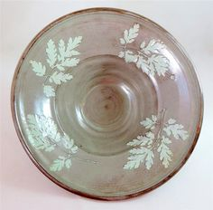 Master potter... Vintage William Fishley Holland Studio Pottery Deep Fern Leaf Bowl Signed 1950s - ebay £9.95
