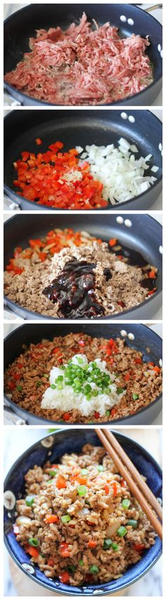 Asian Turkey Lettuce Wraps - These simple wraps comes together in less than 30 min, and it's incredibly hearty, healthy and filling!.