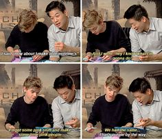 #thescorchtrials cast - thomas sangster and ki hong lee - Thomas Sangster: You just copied me!  Ki Hong Lee: What? No.