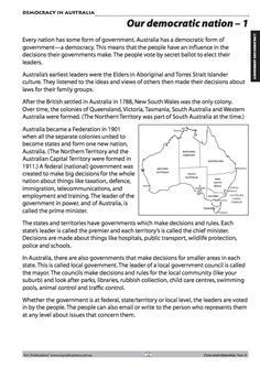 Democracy in Australia. Free teaching sample unit from Year 3 Australian Curriculum Civics and Citizenship teaching resources from R. Science Resources, Teacher Resources, Activities, Freedom Of The Press, Teaching Manners, Year 8, Australian Curriculum, First Contact, Citizenship