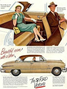 Old car Ad, classic advertising right?