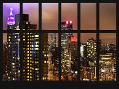 New York Poster, Wall Murals, Wall Art, Nyc Skyline, Manhattan Nyc, Window View, Willis Tower, Nice View, Empire State Building