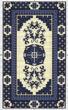Gallery.ru / Фото #176 - Коврики для домика - Mosca Weaving Patterns, Cross Stitch Patterns, Ribbon Embroidery, Cross Stitch Embroidery, Mini Cross Stitch, Miniature Crafts, Tapestry Crochet, Rugs On Carpet, Crochet Chart
