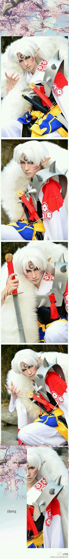 Lord Sesshomaru cosplay from the tv show Inuyasha.