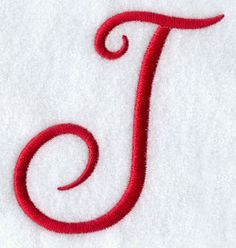 Monogram Script Letter J - 3 inch Hand Embroidery Videos, Embroidery Files, Cross Stitch Embroidery, Machine Embroidery Designs, Paper Embroidery, Letter J Tattoo, Letter J Design, How To Embroider Letters, J Names