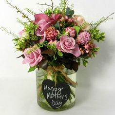 Mothers Day ideas.....Hand tied bouquet in glass vase by Wild About Flowers | Best Online Florists | Editor's Choice | Interiors | Red Online