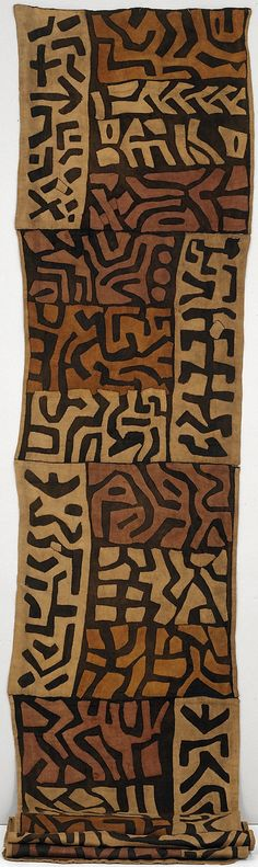 Africa | Ceremonial Skirt (Ntchak) from the Kuba people (Bushoong group) from the Kasai River Region of the DR Congo | Raffia palm fiber with natural dyes | ca. late 19th century