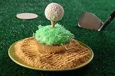 Looking for a fun dessert idea for Father's Day? Check out this Golf Ball Cupcakes recipe. #dessert #CookieBalls