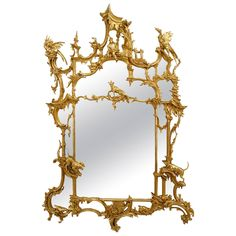 19th Century English Chinese Chippendale Style Mirror after Thomas Johnson | From a unique collection of antique and modern wall mirrors at https://www.1stdibs.com/furniture/mirrors/wall-mirrors/ $225,000