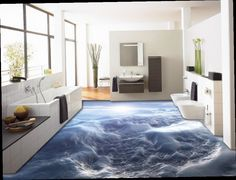 54.98$  Watch now - http://alilme.worldwells.pw/go.php?t=32707052104 - 3d flooring custom papel de parede sky 3d wallpaper 3d floor tiles self adhesive Soundproof wallpaper  54.98$
