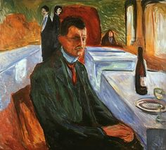 Edvard Munch, self-portrait