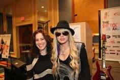 Laura B. Whitmore with Orianthi Women In Music, Music Industry, Awards, Product Launch, Punk, Female, Fashion, Moda, Fashion Styles