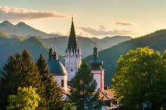 #Basilika in #Mariazell im Abendlicht