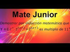 Demostracion por induccion matematuca Sigue mas videos en mi canal Matejunior de youtube