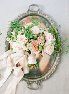 Bouquet with Pink Ribbon Tie | photography by http://ktmerry.com/
