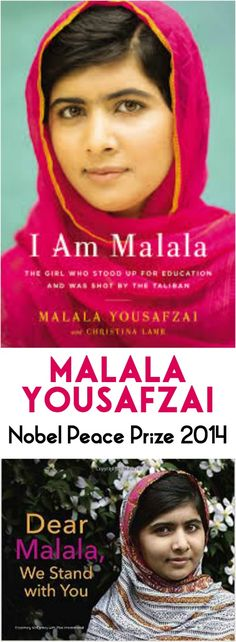 Malala Yousafzai won the Nobel Peace Prize today. She's the youngest winner EVER. And one of the most inspiring. Especially to young people who want to make a difference in the world.