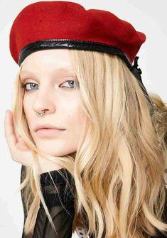 4bf98248b7651 Baby Girl Red Beret - girls orange pearl beret. red cotton beret