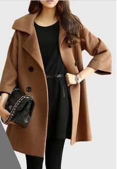 Gray High Collar Jacket Winter Wool Women Coat - Custom Made - 009 ...