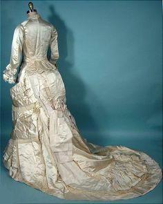 c.1880 Satin Wedding Dress from Antique Dress.com