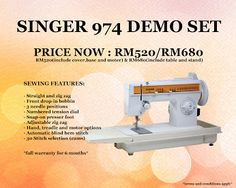 60 best promotion images on pinterest promotion sale promotion singer 974 demo set sewing machine fandeluxe Gallery