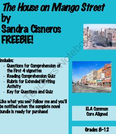 FREE The House on Mango Street from Mrs.EAE on TeachersNotebook.com -  (11 pages)  - The House on Mango Street by Sandra Cisneros FREE