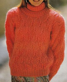 Vintage Knitting Pattern Instructions to Make a Ladies Cable Jumper Sweater