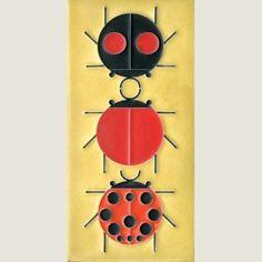 Charlie Harper's Ladybugs 4x8 Ladybug Sampler | Motawi Tileworks