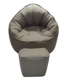 Look at this #zulilyfind! Brown The Giant Pod Bean Bag Chair & Ottoman #zulilyfinds