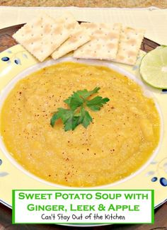 Sweet Potato Soup with Ginger, Leek and Apple | Can't Stay Out of the ...