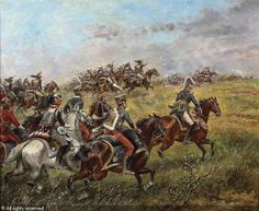 French charge at Waterloo, by Paul-Emile Perboyre