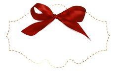 Этикетка с красным бантом шаблон клипарт изображения