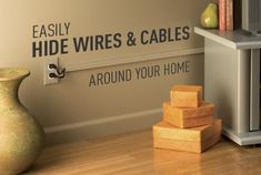 Hiding tv cords can be a real pain in the backside. Its not easy to do if you have brick walls. Are renting. Hide Electrical Cords, Hide Tv Cords, Hide Cables, Hide Wires, Cord Storage, Storage Hacks, Hiding Tv Cords On Wall, Hidden Tv, Home Office Organization