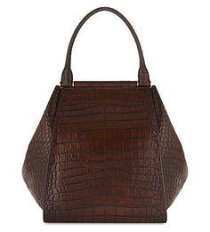 6bca4ef9c9 MAX MARA Large crocodile-embossed leather tote.  maxmara  bags  leather   hand bags  tote
