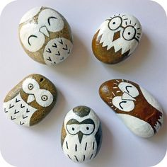 These pebble owls have SUCH personality!    Tutorial at Emily Summers Design and…