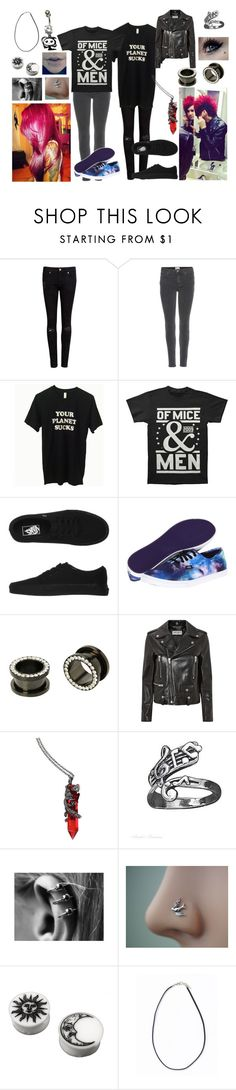 """""""motionless in white preferences"""" by newmotionlessjinxxgamer ❤ liked on Polyvore featuring Ted Baker, Acne Studios, Vans, Tiffany & Co. and Yves Saint Laurent"""