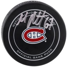 Autographed Montreal Canadiens Max Pacioretty Fanatics Authentic Official Game Puck Max Pacioretty, Nhl Logos, National Hockey League, Montreal Canadiens, Game, Red White Blue, Venison, Gaming, Games