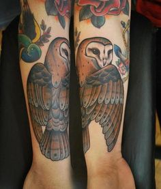 barn #owl #tattoo