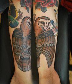 barn #owl #tattoo