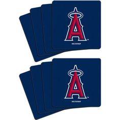 MLB Los Angeles Angels 8-Pack Neoprene Coasters, Multicolor