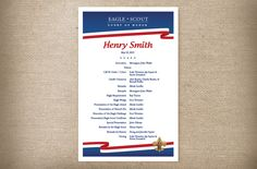 Eagle Scout Invitation Photo Card and Court of Honor Program. Choose the size you would like for the invitation. At the time of purchase Eagle Scout Ceremony, Red White Blue, Photo Cards, Projects To Try, Invitations, Handmade Gifts, Etsy, Ideas, Kid Craft Gifts