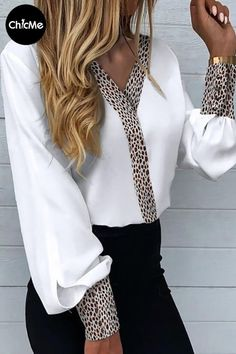 17% OFF today blouses, shirts, tops, blouses for women, blouses for women chic, blouses for women casual Trend Fashion, Look Fashion, Womens Fashion, Chic Type, Blouse Styles, Casual Tops, Style Casual, Printed Blouse, Pattern Fashion