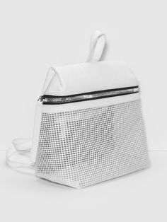 KARA WHITE MESH BACKPACK