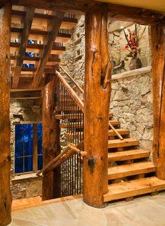west coast stile stair case