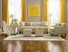 110 Living room designs ideas 2019 New Living Room Furniture and decoration Elegant small living room ideas designs, can be your reference when you are confused to choose the interior design of the right living Grey And Yellow Living Room, Cream Living Rooms, Living Room Colors, Formal Living Rooms, Living Room Grey, Home Living Room, Living Room Designs, Living Room Furniture, Grey Yellow