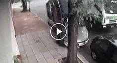 Condutor De Camião Do Lixo Destrói De Uma Só Vez 4 Veículos Estacionados