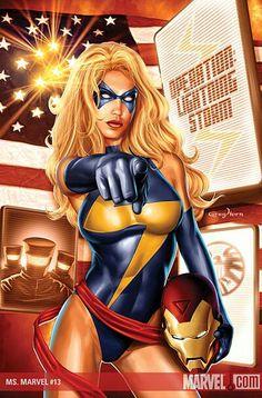 Ms Marvel by Ms Marvel Captain Marvel, Miss Marvel, Captain Marvel Carol Danvers, Marvel Heroes, Flash Marvel, Marvel Fan, Female Comic Characters, Avengers Characters, Marvel Comic Character
