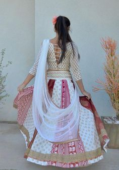 Gopi Skirt Outfits or Lehenga are the most popular Indian wear or Indian Dress in Indian Fashion. Also known as Half Saree or Lehenga Saree or Lehenga Choli or Garba skirts Lehenga Skirt, Lehenga Saree, Traditional Fashion, Half Saree, Holiday Fashion, Skirt Outfits, Indian Dresses, Indian Fashion, Spring Outfits