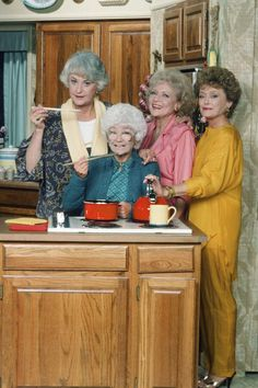 """Rose: """"Cooking, Dorothy?"""" Dorothy: """"No, Rose, I'm developing pictures for the Magellan Space Program."""""""